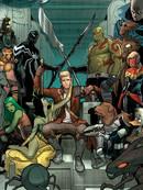 银河守护者与X战警 黑色旋涡漫画