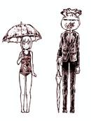 新・潜血者林檎与金鱼缸男漫画